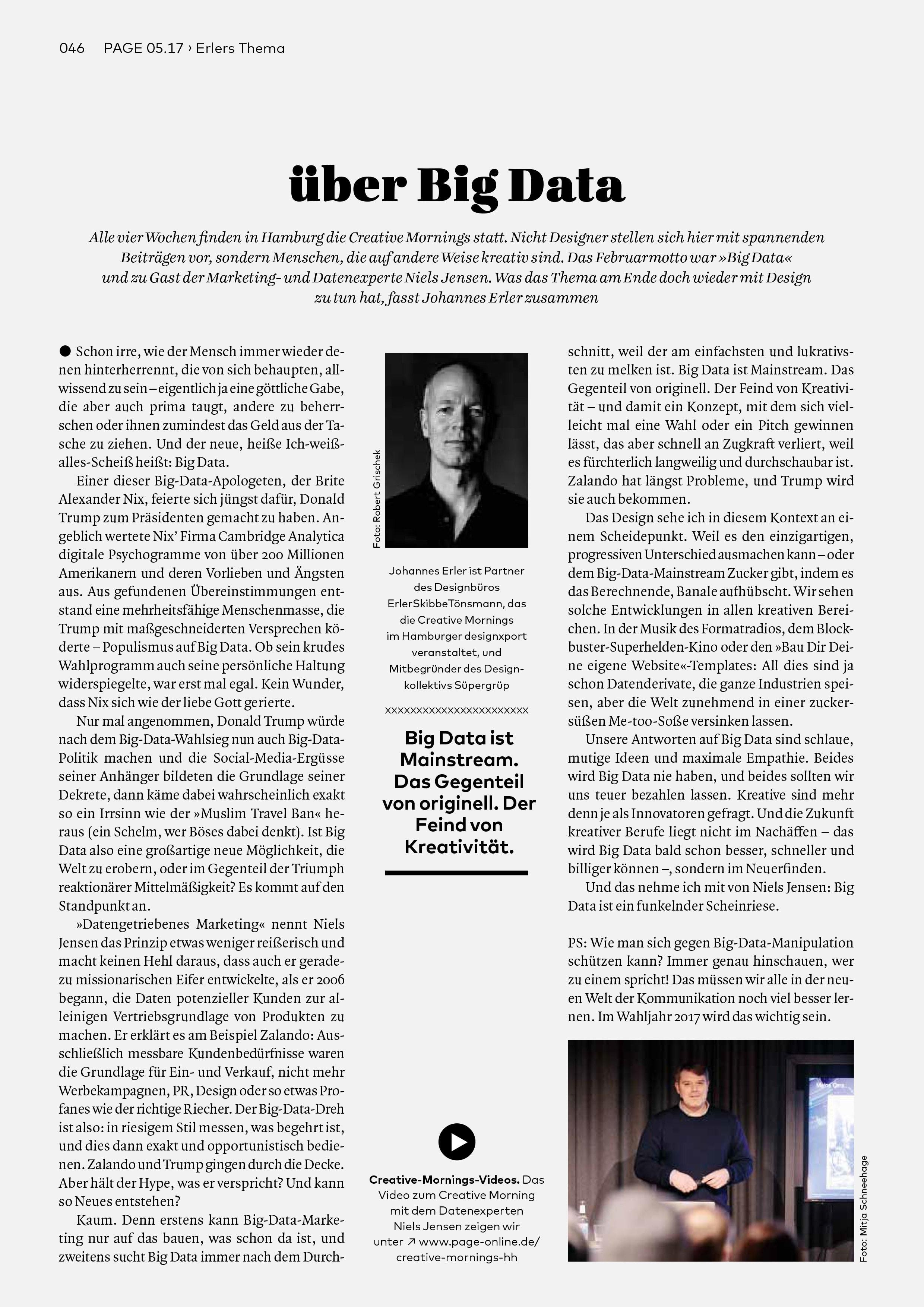 Bureau Johannes Erler – über Big Data
