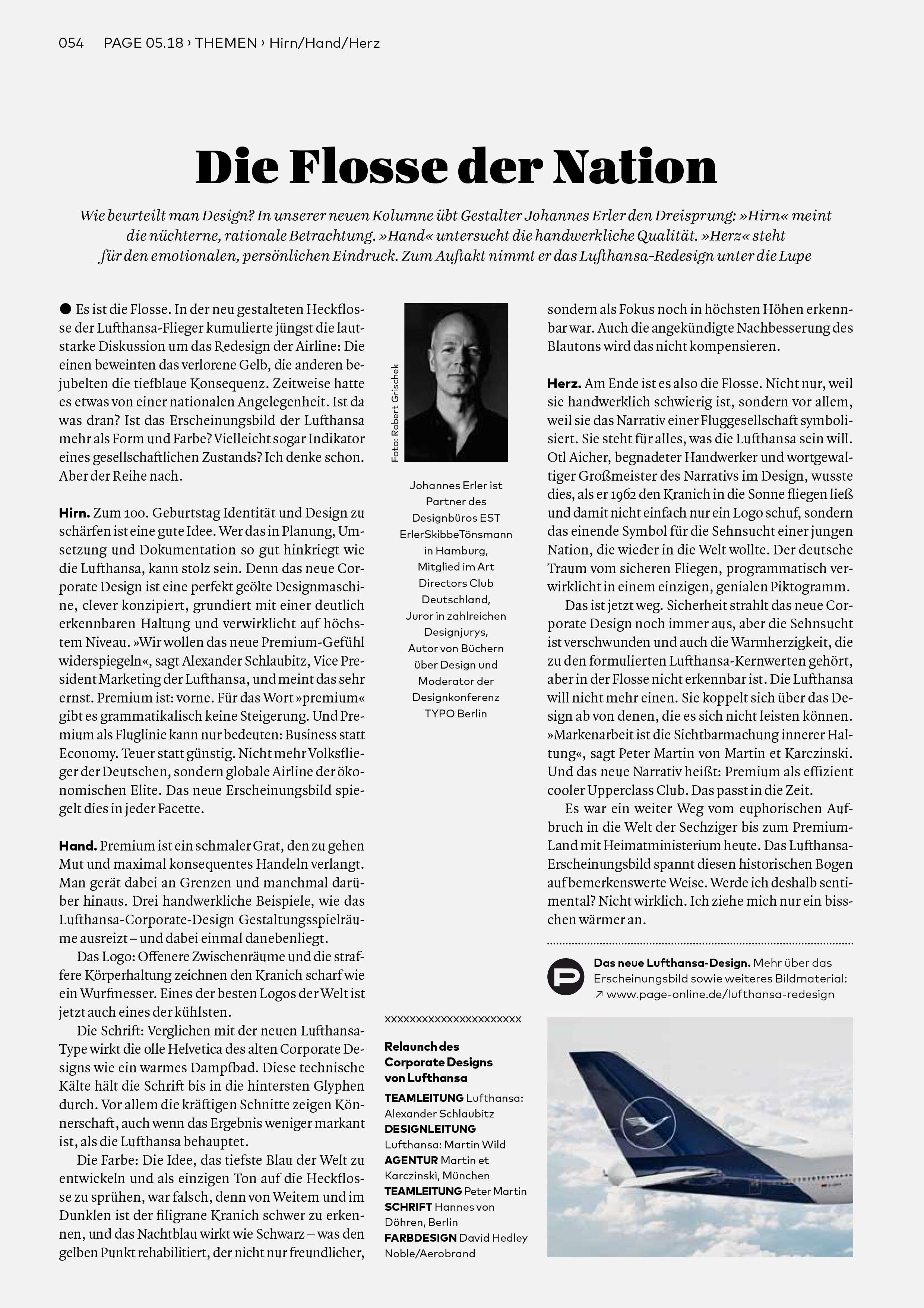Bureau Johannes Erler – Designkritik-Kolumne #1: Das neue Redesign der Lufthansa