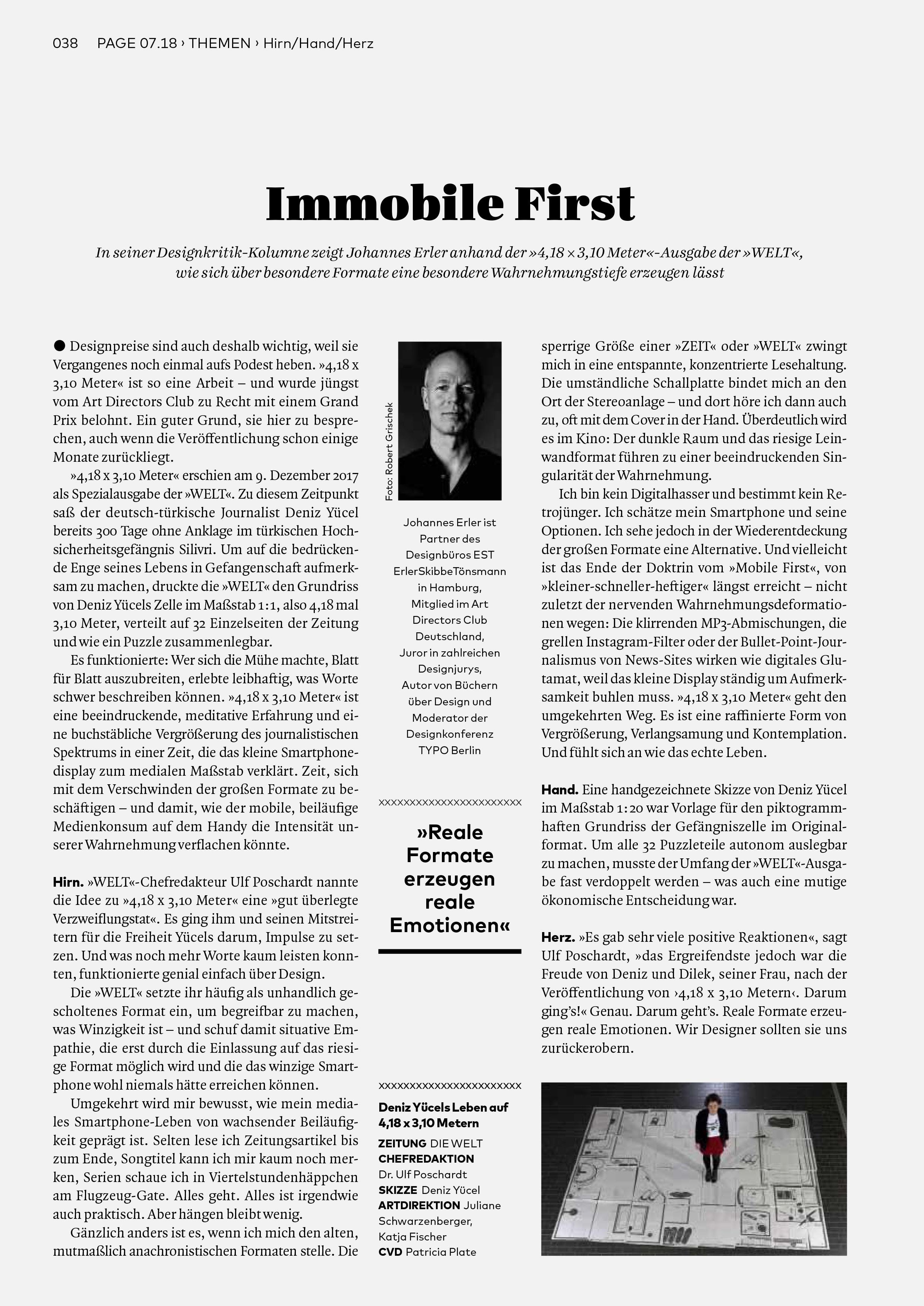 Bureau Johannes Erler – Designkritik-Kolumne #3: Deniz Yücels Leben auf 4,18 x 3,10 m