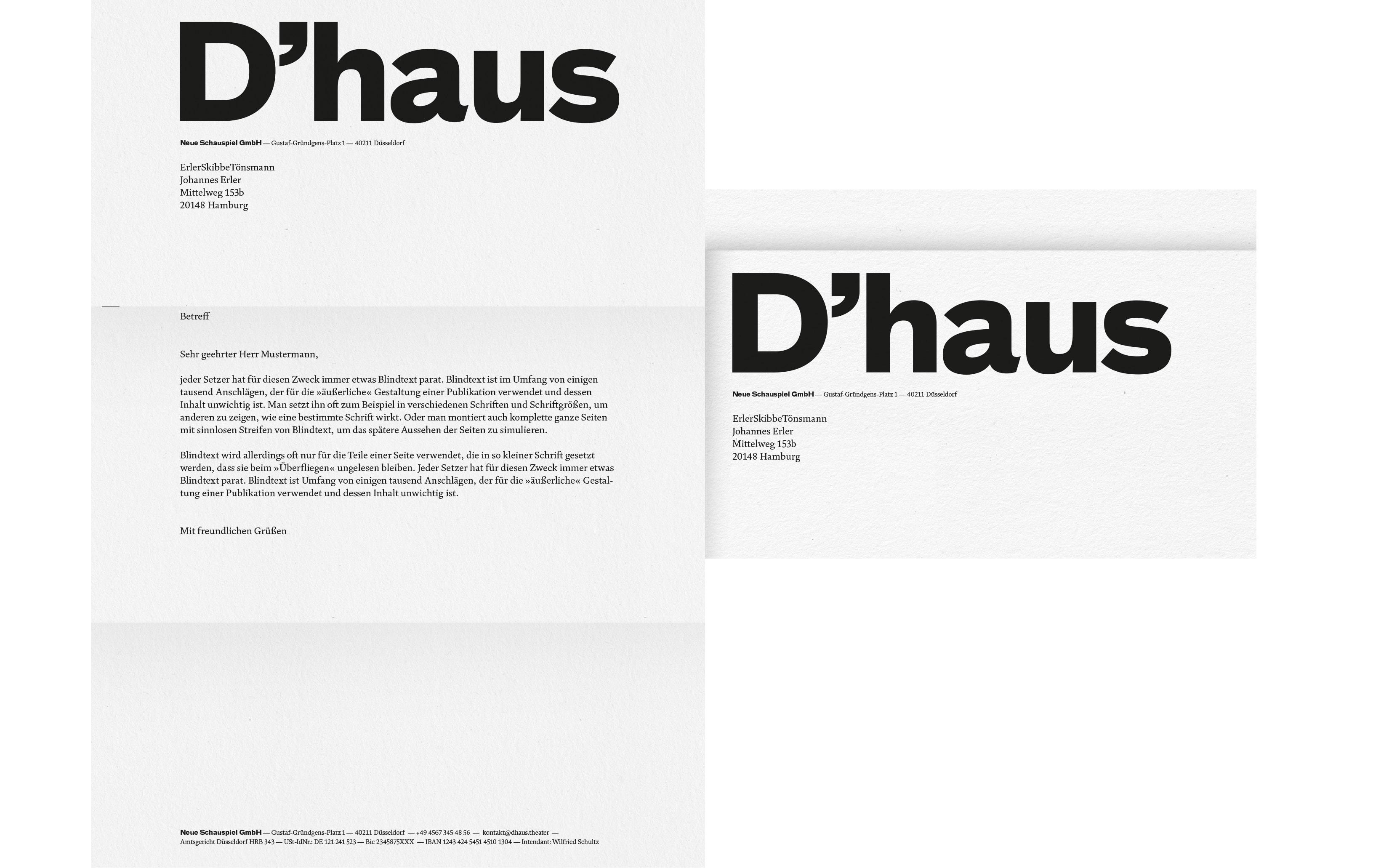 Bureau Johannes Erler – Düsseldorfer Schauspielhaus