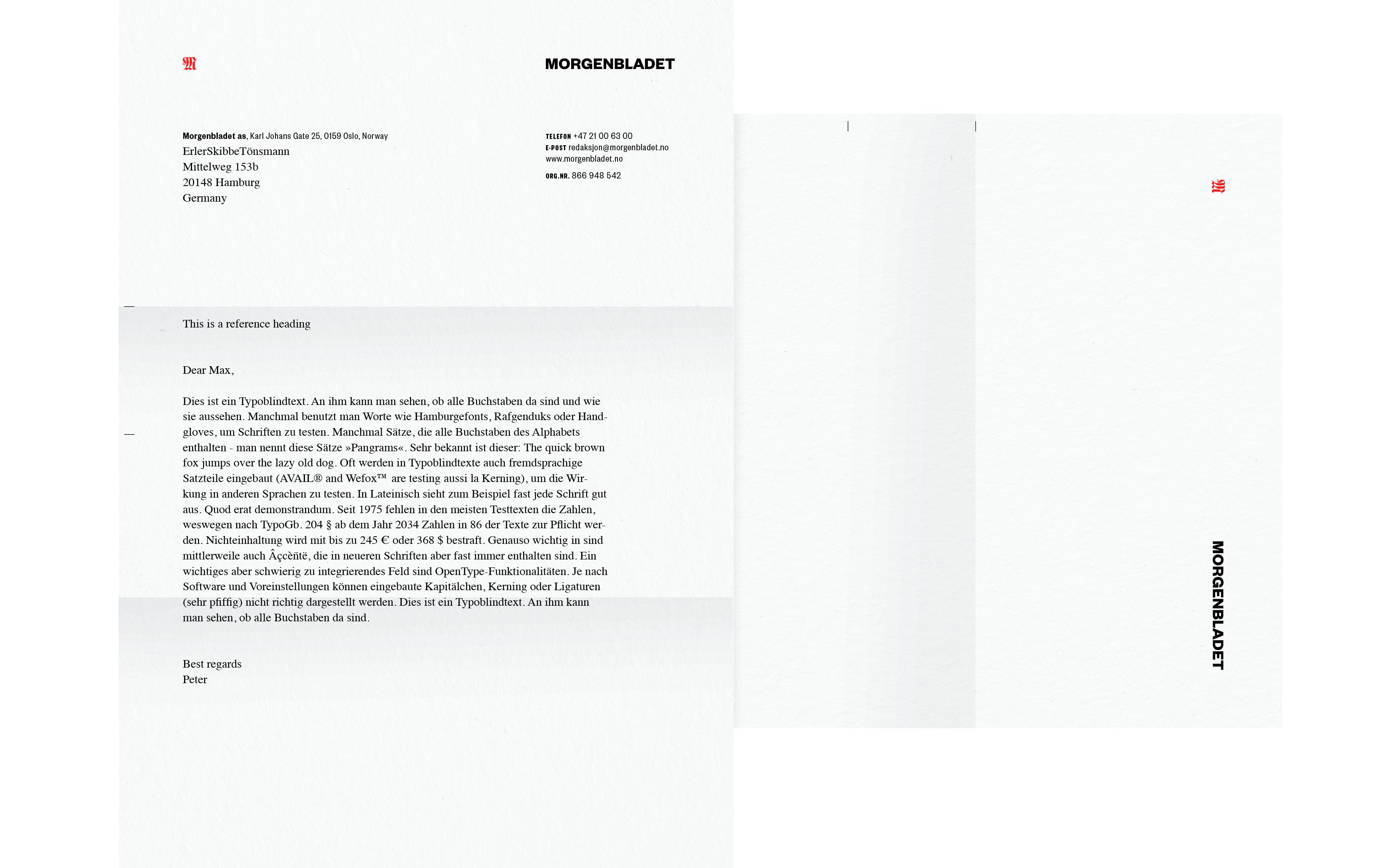 Bureau Johannes Erler – Morgenbladet